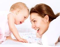 Mãe e bebê Fotografia de Stock Royalty Free