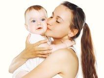 Mãe e bebê felizes junto Fotos de Stock