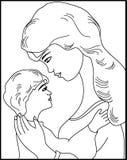 Mãe e criança Foto de Stock Royalty Free