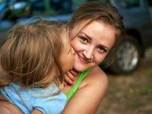 Mãe e criança felizes Fotos de Stock