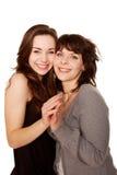 Mãe e filha adolescente junto. Família feliz. imagem de stock royalty free