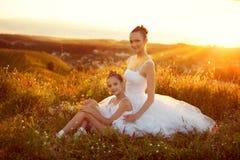 Mãe e filha da bailarina fotografia de stock royalty free