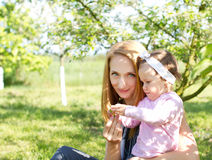 Mãe feliz Imagem de Stock