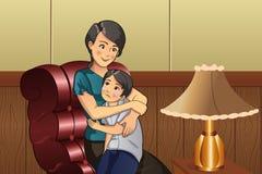 Mãe que consola sua criança Fotografia de Stock