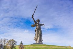 Mãe Rússia em Volgograd imagem de stock