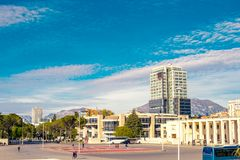 Mãe Teresa Square em Tirana Foto de Stock Royalty Free