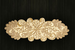 A mão árabe e indiana do ouro perlou e tabela feito a mão de Placemats imagem de stock