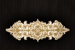 A mão árabe e indiana do ouro perlou e tabela feito a mão de Placemats fotografia de stock
