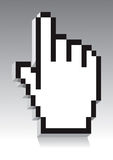 mão 3D ilustração stock