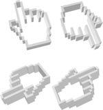 Mão 3D Imagens de Stock
