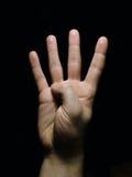 Mão - 4 imagens de stock royalty free