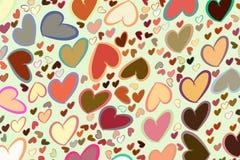 Mão abstrata amor tirado para o dia de são valentim, as celebrações ou o aniversário Partido, teste padrão, detalhes & decoração ilustração do vetor