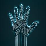 Mão abstrata do circuito Foto de Stock