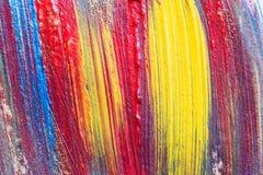Mão abstrata fundo criativo tirado da arte da pintura acrílica clo Imagens de Stock Royalty Free