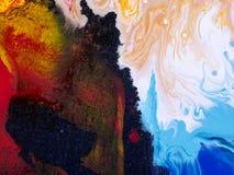 Mão abstrata fundo pintado Fotografia de Stock Royalty Free
