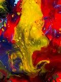 Mão abstrata fundo pintado Imagem de Stock Royalty Free