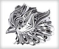 Mão abstrata pássaro desenhado Fotografia de Stock Royalty Free