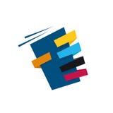 Mão abstrata que guarda o sinal moderno do objeto Imagem de Stock Royalty Free
