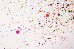Mão abstrata respingo tirado da aquarela Fotografia de Stock