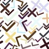 Mão abstrata sem emenda tiquetaque tirado ou sinal transversal da marca, o direito ou o errado Papel de parede, digital, detalhes ilustração do vetor