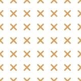 Mão abstrata sem emenda tiquetaque tirado ou sinal transversal da marca, o direito ou o errado Projeto, forma, detalhes & efeito ilustração royalty free