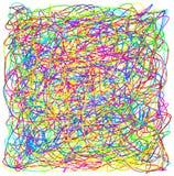 Mão abstrata textu colorido tirado do teste padrão do caos da garatuja do garrancho Foto de Stock Royalty Free