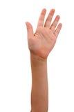Mão acima Fotografia de Stock