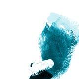 Mão acrílica colorida azul curso tirado ilustração do vetor