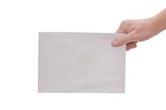 Mão & grande envelope Fotografia de Stock