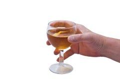 Mão & vinho Fotos de Stock Royalty Free