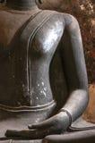 Mão antiga da estrutura da Buda em Wat Suthat Temple, Banguecoque imagem de stock