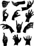 A mão assina a coleção Imagem de Stock
