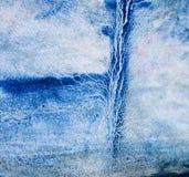 Mão azul da aquarela tirada para o projeto do texto, Web Elemento frio abstrato da textura da grão do papel da pintura da escov ilustração do vetor