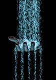 Mão binária do fluxo Fotos de Stock Royalty Free