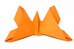 Mão - borboleta feita do origami Fotografia de Stock Royalty Free