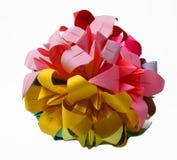 Mão - círculo feito do origami Imagem de Stock