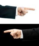 Mão caucasiano em um terno de negócio isolado Fotos de Stock Royalty Free