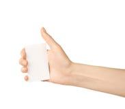 Mão caucasiano fêmea isolada Foto de Stock Royalty Free