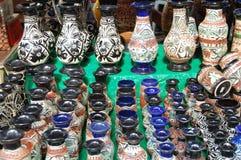 A mão cerâmica crafted o vaso Foto de Stock