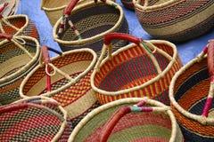 Mão - cestas feitas Foto de Stock Royalty Free