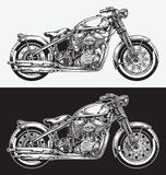 A mão cobriu a motocicleta ilustração royalty free