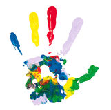 Mão colorida Fotos de Stock Royalty Free