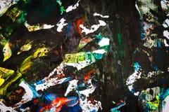 Mão colorida abstrata fundo pintado imagem de stock