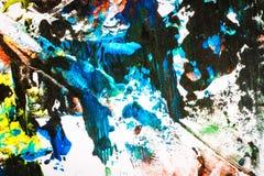 Mão colorida abstrata fundo pintado fotografia de stock royalty free