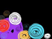 Mão colorida abstrata fundo tirado dos círculos fotografia de stock royalty free