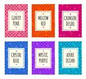 Mão colorida grupo de cartões vívido tirado do teste padrão Imagem de Stock