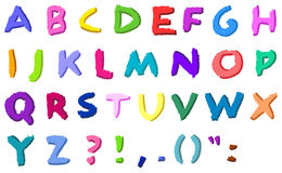 Mão colorida letras desenhadas ilustração royalty free