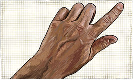 Mão com apontar o dedo ilustração do vetor