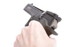 Mão com arma Fotos de Stock Royalty Free