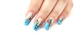 Mão com arte do prego Foto de Stock Royalty Free